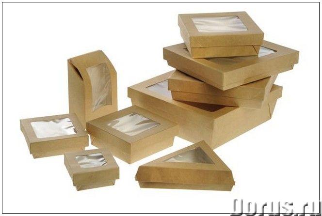 Картонная Эко упаковка для суши - Тара и упаковка - Контейнеры из ЭКО картона с окнами и без, с жиро..., фото 1