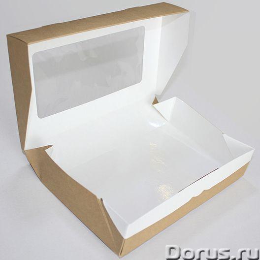 Картонная Эко упаковка для суши - Тара и упаковка - Контейнеры из ЭКО картона с окнами и без, с жиро..., фото 2