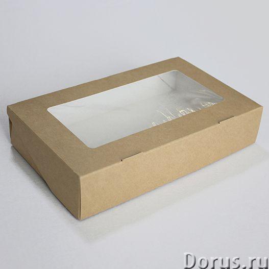 Картонная Эко упаковка для суши - Тара и упаковка - Контейнеры из ЭКО картона с окнами и без, с жиро..., фото 3