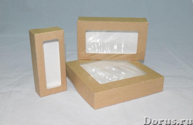 Картонная Эко упаковка для суши - Тара и упаковка - Контейнеры из ЭКО картона с окнами и без, с жиро..., фото 4