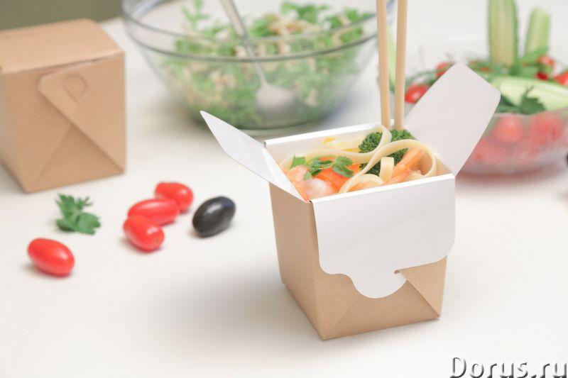 Картонная Эко упаковка для лапши - Тара и упаковка - Контейнеры из ЭКО картона с жиро-водоустойчивой..., фото 1