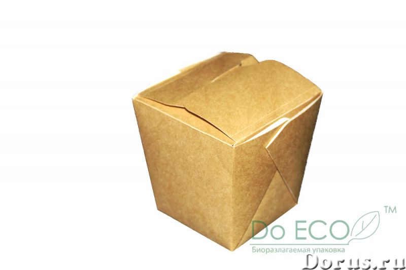 Картонная Эко упаковка для лапши - Тара и упаковка - Контейнеры из ЭКО картона с жиро-водоустойчивой..., фото 2