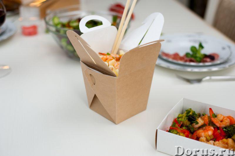 Картонная Эко упаковка для лапши - Тара и упаковка - Контейнеры из ЭКО картона с жиро-водоустойчивой..., фото 4