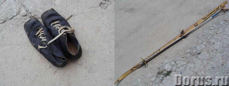 Лыжные ботинки 42р. с лыжей и палкой - Спорт товары - Лыжные ботинки 42р. с лыжей и палкой - город С..., фото 1